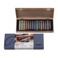 Rembrandt Soft pastelS BASIC WOODEN BOX OF 15