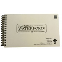 """Saunders Waterford Watercolour - Not Fat Pad 300gsm - 19x28cm (7""""x11"""")"""
