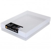 Clear plastic craft storage box A4