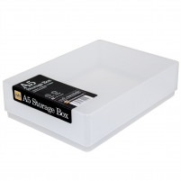 Clear plastic craft storage box A5