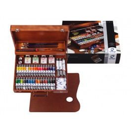 VAN GOGH OIL COLOURS ARTISTS' WOODEN BOX SUPERIOR