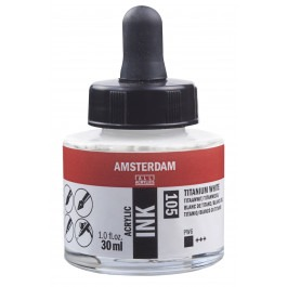 AMSTERDAM ACRYLIC INK - 30ML TITANIUM WHITE