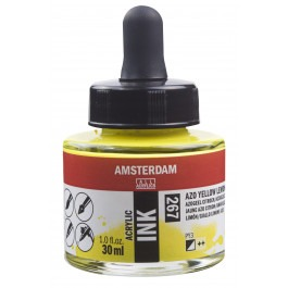 AMSTERDAM ACRYLIC INK - 30ML AZO YELLOW LEMON