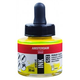 AMSTERDAM ACRYLIC INK - 30ML PRIMARY YELLOW