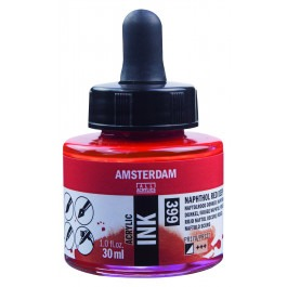 AMSTERDAM ACRYLIC INK - 30ML NAPHTHOL RED DEEP