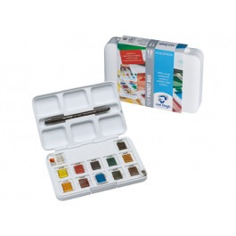 WATER COLOUR POCKET BOX 12X1/2 PANS