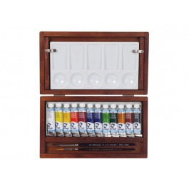 ARTISTS' WOODEN BOX Van Gogh WATERCOLOUR TUBES