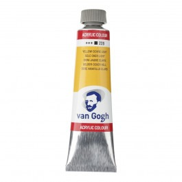 40ml - Van Gogh Acrylic - Yellow ochre light