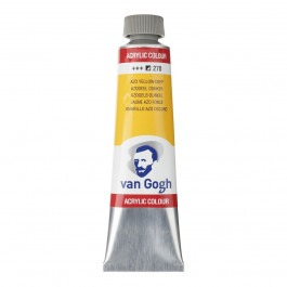 40ml - Van Gogh Acrylic - (Cadm. Equivalent) Azo yellow deep