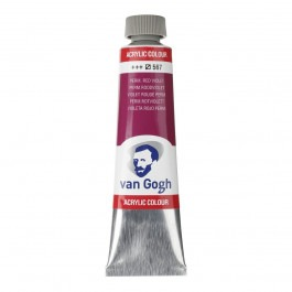 40ml - Van Gogh Acrylic - Permanent red violet