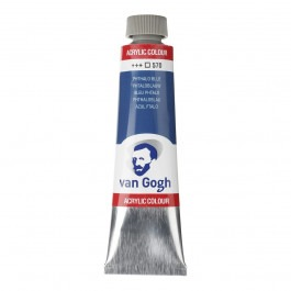 40ml - Van Gogh Acrylic - Phthalo blue