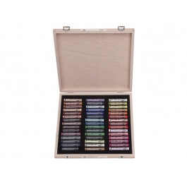 Rembrandt Soft Pastels - DE LUXE WOODEN BOX OF 45 PORTRAIT