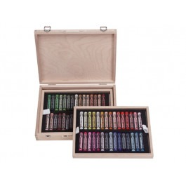 Rembrandt Soft Pastels - DE LUXE WOODEN BOX OF 60 PORTRAIT