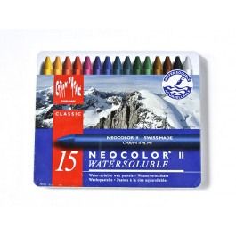 CARAN D' ACHE NEOCOLOUR II ~ WATERSOLUBLE PASTELS - SET OF 15