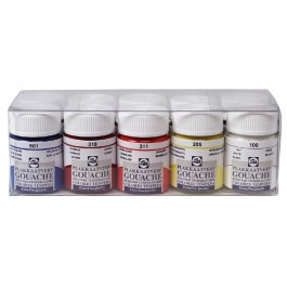 GOUACHE PLASTIC SET 10X16ML