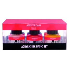 AMSTERDAM ACRYLIC INK - SET 6X30ML