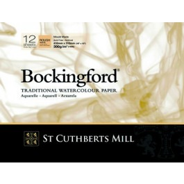 Bockingford Watercolour Spiral Pad 18x13cm ~ 300gsm Rough