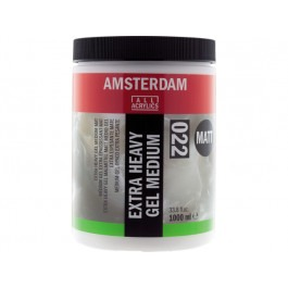 ACRYLIC EXTRA HEAVY GEL MEDIUM MATT - 1 LITRE TUB