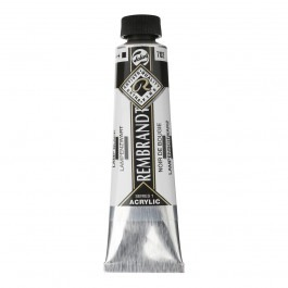 40ml - Rembrandt Acrylic - Lamp black - Series 1