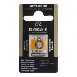 1/2 Pan - Rembrandt Watercolour - (Cadm. Equivalent) Azo yellow deep - Series 2