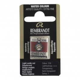 1/2 Pan - Rembrandt Watercolour - Light oxide red - Series 1