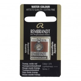 1/2 Pan - Rembrandt Watercolour - Transparent oxide red - Series 2