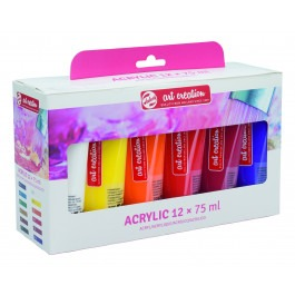 Art Creation Budget acrylic colours complete set 12 x 75ml